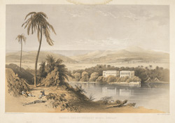 'Parell. The Government House, Bombay'.  Lithograph by Day & Son from Sir Harry Darrell's China, India and the Cape London, 1852.  Proof.